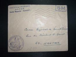 LETTRE OBL.MEC.13-5 1969 POSTE AUX ARMEES DIRECTION DE L'INTENDANCE De La 3e R.M. RENNES (35) INTENDANCE N. LAVERGNE - Postmark Collection (Covers)