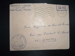 LETTRE OBL.MEC.14-5 1969 POSTE AUX ARMEES DIRECTION DE L'INTENDANCE De La 3e R.M. RENNES (35) INTENDANCE N. LAVERGNE - Postmark Collection (Covers)