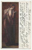 Resignation ,Girl Art Postcard Signed Adolf Karpellus Used 1928 - Adolf 'Jodolfi'