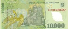 ROMANIA P. 112b 10000 L 2001 UNC - Roumanie
