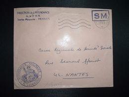 LETTRE OBL.MEC.5-6 1969 POSTE AUX ARMEES DIRECTION DE L'INTENDANCE De La 3e R.M. RENNES (35) INTENDANCE N. LAVERGNE - Postmark Collection (Covers)