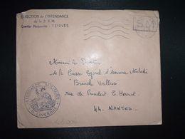 LETTRE OBL.MEC.10-9 1969 POSTE AUX ARMEES DIRECTION DE L'INTENDANCE De La 3e R.M. RENNES (35) INTENDANCE N. LAVERGNE - Postmark Collection (Covers)