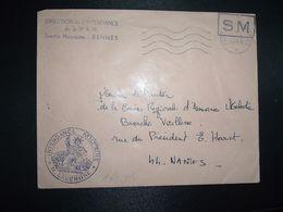 LETTRE OBL.MEC.11-9 1969 POSTE AUX ARMEES DIRECTION DE L'INTENDANCE De La 3e R.M. RENNES (35) INTENDANCE N. LAVERGNE - Postmark Collection (Covers)