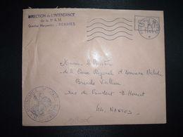 LETTRE OBL.MEC.26-9 1969 POSTE AUX ARMEES DIRECTION DE L'INTENDANCE De La 3e R.M. RENNES (35) INTENDANCE N. LAVERGNE - Postmark Collection (Covers)