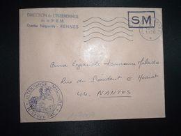 LETTRE OBL.MEC.19-1 1970 POSTE AUX ARMEES DIRECTION DE L'INTENDANCE De La 3e R.M. RENNES (35) INTENDANCE N. LAVERGNE - Postmark Collection (Covers)