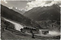 La Route Et Le Car Postal De Vissoie à St Luc 1967 - VS Valais