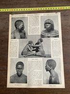 1910 JDV A TRAVERS LE MONDE NOIR EDOUARD FOA NEGRES ATCHECOUNDA AZIMBA MAGANDJA BOSHIMAN MAKALAKA - Alte Papiere
