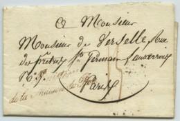 Ministère De La Maison Du Roi / LàC 1816 Pour Paris . Taxe Rouge 14 Décimes . Pension . - Lettres Taxées
