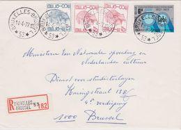 Agence * Bruxelles - Brussel 53 * - Relais Enveloppe Recommandé 1977 Elstrom - Belgium