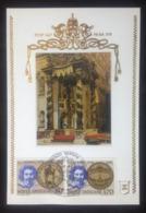 Vatican, Uncirculated Maximum Card, «Famous People», «Architecture», «L. Bernini», 1980 - Vatican