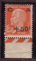 CAISSE D'AMORTISSEMENT 1927 YT248 +50C Sur 1F50 PASTEUR NEUF** SIGNE CALVES - Caisse D'Amortissement