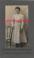 CDV Jeune Fille- L'avenir Photographique Rue De Lalande à Paris - Anciennes (Av. 1900)