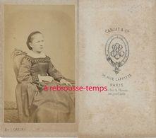 CDV Par Carjat-second Empire-belle Jeune Fille- Rue Laffitte à Paris - Anciennes (Av. 1900)