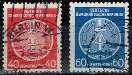 DDR 1954, Michel# D 12 + 15 O - Service