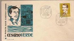 Portugal & FDC Homage To Cesário Verde, The Poet Who Sang Lisbon, C.T.T S.I.R 1957 (831) - FDC