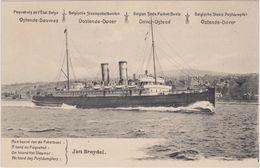 Ostende-Dover 10ct. Grove Baard Paketboot Jan-Breydel Paquebot - Stamped Stationery