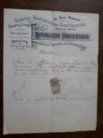 L24/173 Ancienne Facture. Charolles . Au Bon Marché . Bourgeon. Paqueriaud . 1900 - France