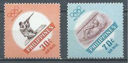 Philippines Poste Aérienne YT N°61/62 Jeux Olympiques De Rome 1960 Neuf ** - Philippines
