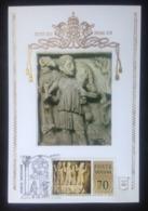 Vatican, Uncirculated Maximum Card, «Art», «Sculpture», «Bas-Relief», «Sarcophagi», 1977 - Vatican
