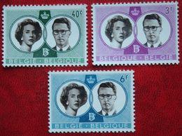 Mariage Royal S.M. Le Roi Bauduin OBC N° 1169-1171 (Mi 1229-1231) 1960 POSTFRIS MNH ** BELGIE BELGIEN / BELGIUM - Belgium