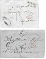 2 Lsc  D'Italie Cad Entrée SARD ANTIBES Et SARD MARSEILLE  1841 Et 1861 TB - Marcophilie (Lettres)