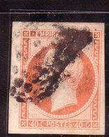 NAPOLEON EMPIRE NON LAURE 40C ORANGE VIF YT16a OBLITERE LOSANGE 3250 - 1853-1860 Napoléon III