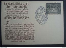 Österreich 1952, Postkarte Katholikentag Sonderstempel - 1945-.... 2ª República