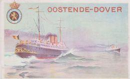 Postkaart- Carte-Postale-Ostende-Dover 10 Ct. Op 30c. - Stamped Stationery