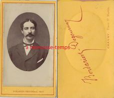 CDV Jeune Homme- Photo Bordarier-Degournay Place Saint Martin à Chauny - Anciennes (Av. 1900)