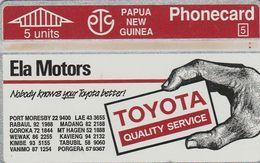 Papua New Guinea, PNG-020a, Toyota Ph 57 9367, 2 Scans. 311D. - Papouasie-Nouvelle-Guinée