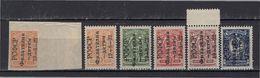 ++ 1922 Mi. 185(A+B)-189 ** Philately For Children Inverted Overprint Full Series MNH OG MNH See Discription - Unused Stamps