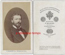 CDV Beau Portrait D'homme En Médaillon-photo Mulnier à Paris - Anciennes (Av. 1900)