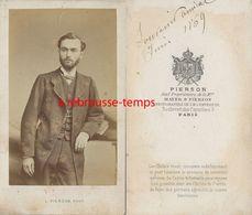 En 1869-CDV Jeune Homme élégant - Photo Pierson à Paris - Anciennes (Av. 1900)