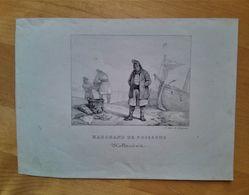 Marchand De Poissons Hollandais, Litho Ancienne  De Delpech - Litografía