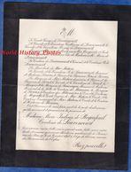 Document De 1898 - PARIS 97 Rue Du Bac - Madame Marie Isabeau De ROQUEFEUIL Comtesse De LOUVENCOURT - Documenti Storici