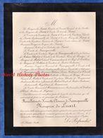 Document De 1900 - LE LUART ( Sarthe ) - Marie Antoinette Henriette Clémence De FRANCQUEVILLE Marquise Du LUART - Documenti Storici