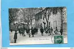 GIGNAC-place De La Mairie- Beau Plan-très Animé -a Voyagé En 1910- Cachet Perlé Gignac - France