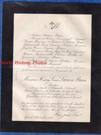 Document De 1898 - PARIS - Monsieur Henry Louis LUCIEN BRUN - Sénateur , Député , Batonnier De L'Ordre Des Avocats - Documenti Storici