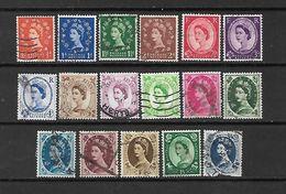 1952/54 - GRAN BRETAGNA - N. 262/78 USATI (CATALOGO UNIFICATO) - Used Stamps