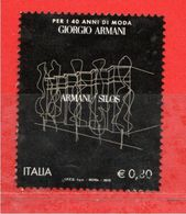 Italia- °-2014 - GIORGIO ARMANI.  Unif,3627.  Usato. - 2011-...: Used
