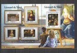 ST1980 2015 NIGER ART PAINTINGS FAMOUS PEOPLE LEONARDO DA VINCI 1SH MNH - Künste