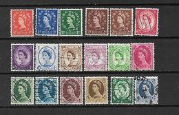 1955/56 - GRAN BRETAGNA - N. 287/301 USATI (CATALOGO UNIFICATO) - Used Stamps
