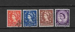 1957 - GRAN BRETAGNA - N. 306 - N. 307 - N. 309 - N. 311 USATI (CATALOGO UNIFICATO) - Used Stamps