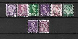 1958/64 - GRAN BRETAGNA - N. 315/22 USATI - N. 323A/26** (CATALOGO UNIFICATO) - Used Stamps