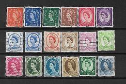 1958/60 - GRAN BRETAGNA - N. 327/42 USATI (CATALOGO UNIFICATO) - Used Stamps