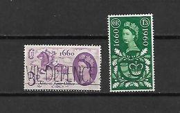 1960 - GRAN BRETAGNA - N. 355/56 USATI (CATALOGO UNIFICATO) - Used Stamps