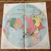 1950 CARTE COULEUR GRAND FORMAT POLITIQUE HEMISPHERE NORD - Alte Papiere