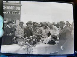 Négatif Souple Photographie Un Vainqueur  à  MONTLHERY En  1927  FIN !!!!!!! - Automobile