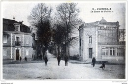 PARTHENAY LA ROUTE DE POITIERS SEPIA BLEUE TBE - Parthenay