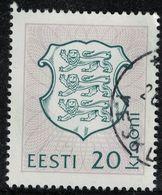 Estonie 1993 Oblitéré Used Coat Of Armes Blason Armoiries Lions Héraldiques Animaux Stylisés SU - Estland